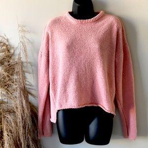 Coco + Jaimeson Cropped Chenille Crewneck Sweater